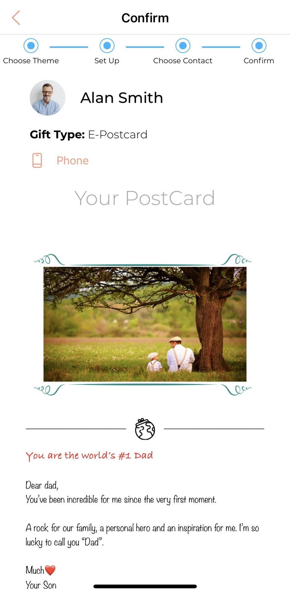 post card gift world 6