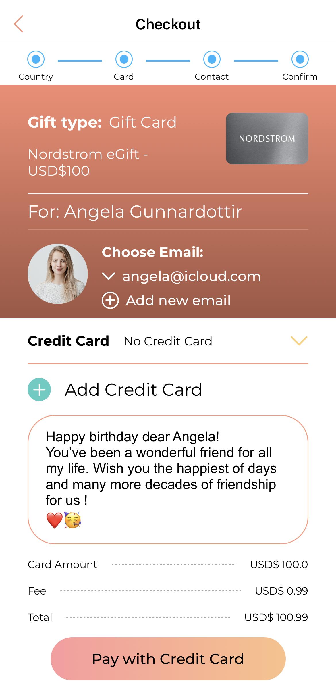 gift card gift world 7
